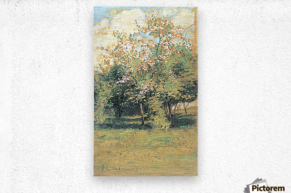 Blooming Trees by Hassam  Metal print