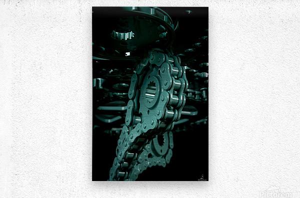 Tiffany chain  Metal print