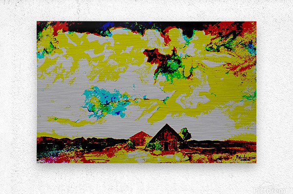 Evening landscape 4  Metal print