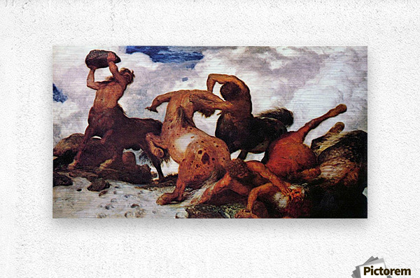 Centaurs by Arnold Bocklin  Metal print