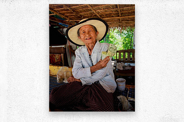 Thai Grandma  Metal print