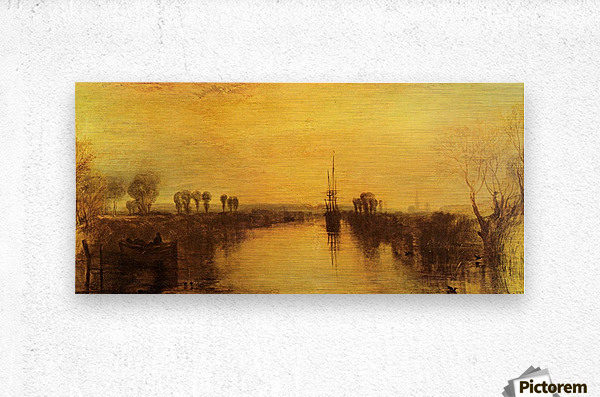Chichester Canal by Joseph Mallord Turner  Metal print