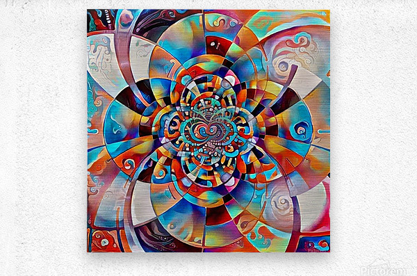 Colorful Fractal  Metal print
