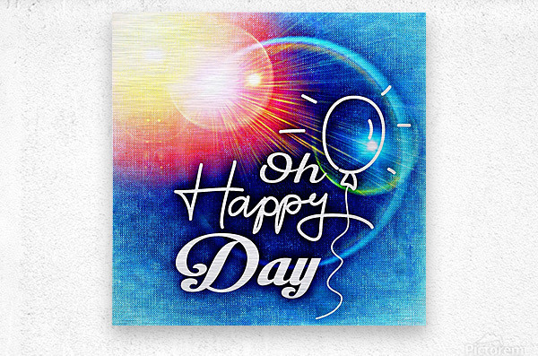 Happy Day_OSG  Metal print