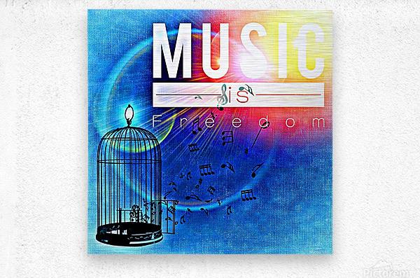 Music_OSG  Metal print