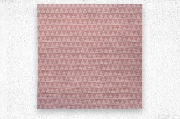 ORANGE Triangle Shape Seamless Pattern Background     Metal print