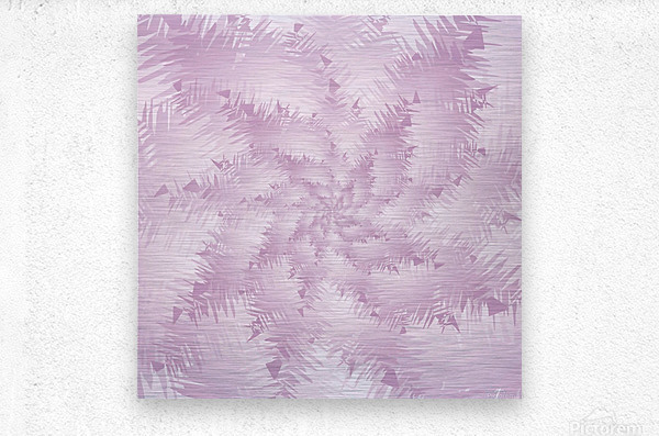 Pink Snowflakes Forest  Metal print