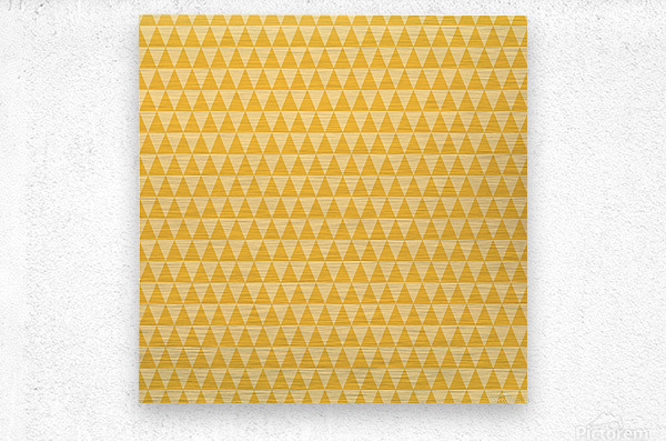 YELLOW Triangle Shape Seamless Pattern Background    Metal print