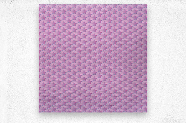 Pink Star Pattern  Metal print