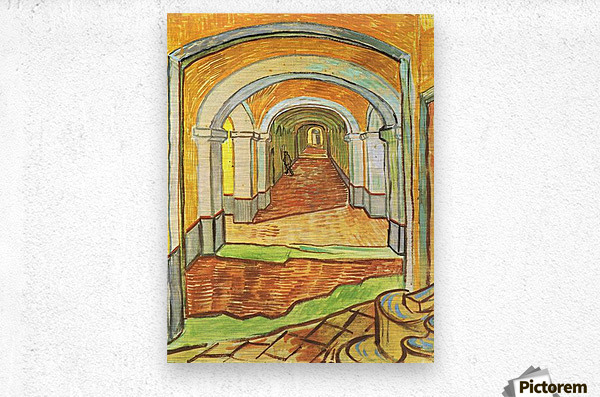 Corridor in Saint-Paul Hospital by Van Gogh  Metal print