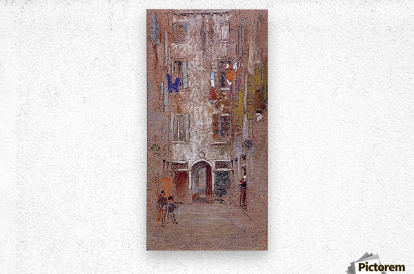 Corte del Paradiso by Whistler  Metal print