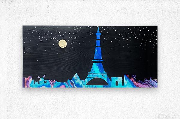 I love Paris on Wood 2  Metal print