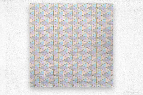 Hexagon Color Art Pattern  Metal print