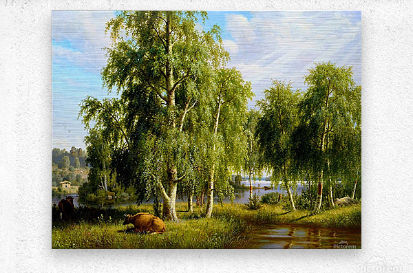 Beautiful Summer Day In The Farm_OSG  Metal print
