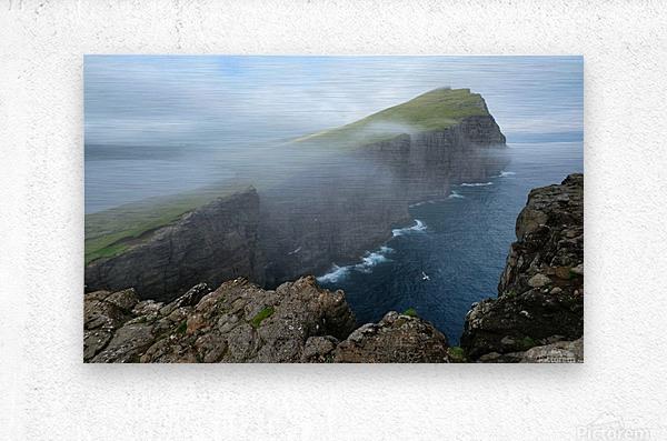 Faroe Cliffs  Metal print