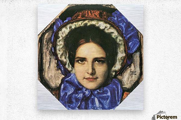 Daughter Mary by Franz von Stuck  Metal print