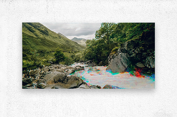Glen Shiel River - Colorflow 2  Impression metal