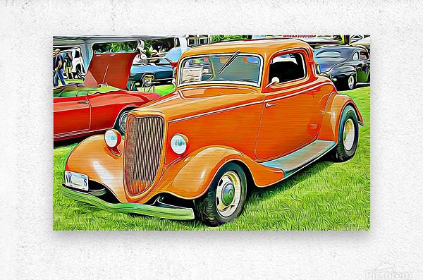 hot rod classic car   Metal print