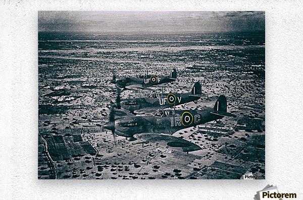 Formation Of Spitfires - 1943  Metal print