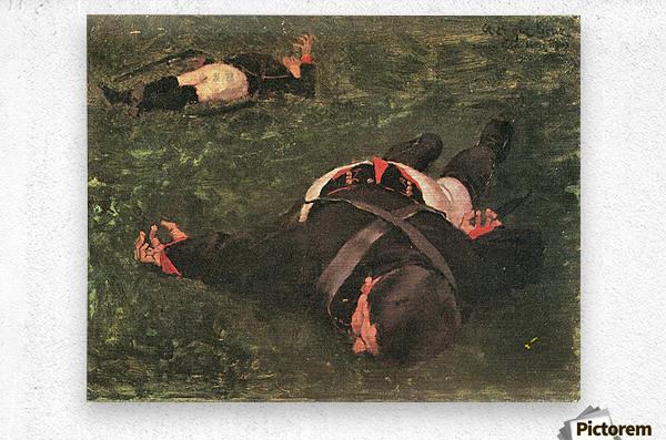 Dead Frenchmen by Albin Egger-Lienz  Metal print