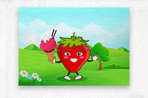 Strawberry Ice Cream_OSG  Metal print