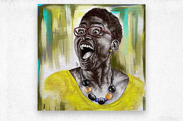 laugh 2  Metal print
