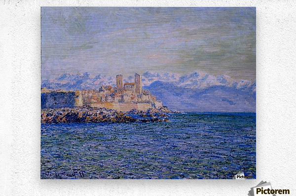 The Old Fort at Antibes  Metal print