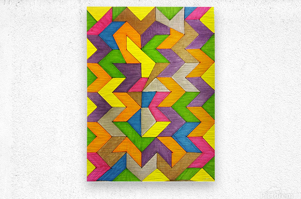 Patterned Lines of Color  Metal print