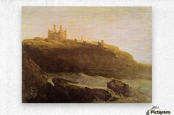 Dunstanborough Castle by Joseph Mallord Turner  Metal print