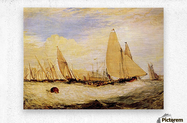 East Cowes Castle, Regatta by Joseph Mallord Turner  Metal print