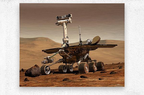Artists Rendition of Mars Rover.  Metal print