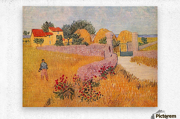 Farmhouse in Provence by Van Gogh  Metal print