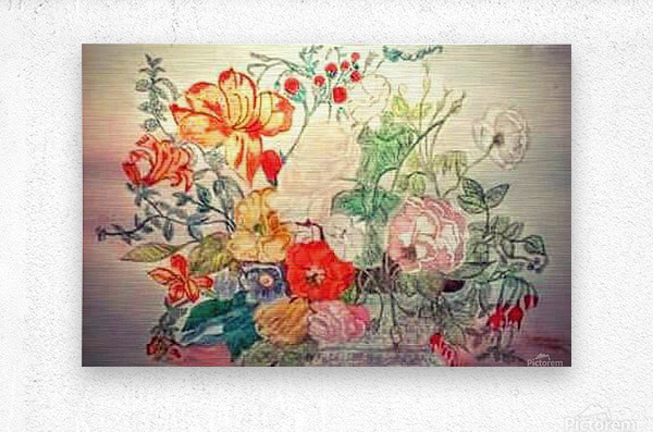 Bouquet of 10000 Colors  Metal print