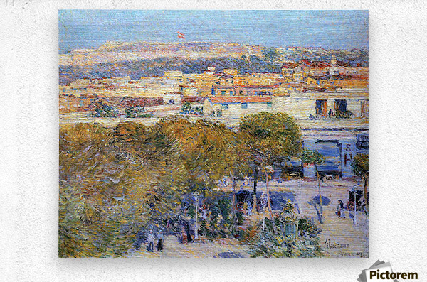 Central Place and Fort Cabanas, Havana by Hassam  Metal print