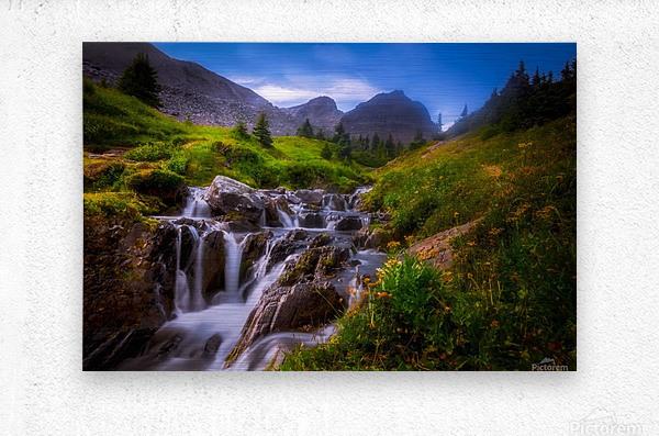 Chasing Waterfall   Metal print