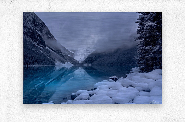 Lake Louise blues  Metal print