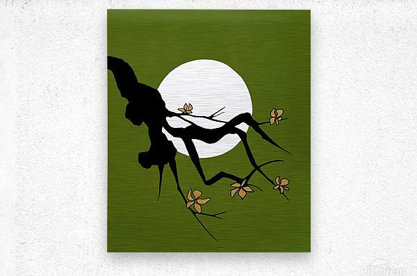 Asian Branch Icon  No.1  Metal print