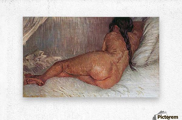 Female Nude by Van Gogh  Metal print