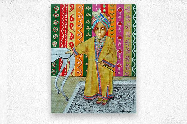 Mini Maharajah  Metal print
