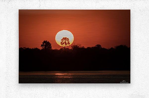 Sunset of Zimbabwe  Metal print