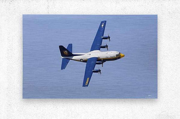 A C-130 Hercules of the Blue Angels flight demonstration squadron.  Metal print