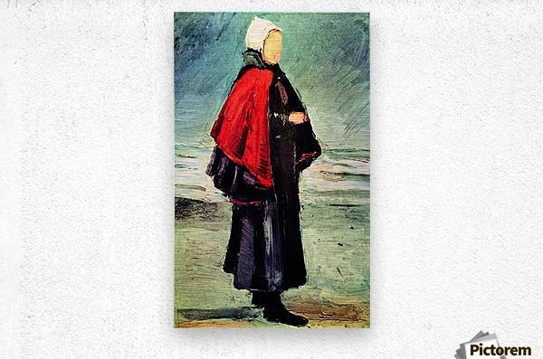 Fisherwoman on the shore by Van Gogh  Metal print