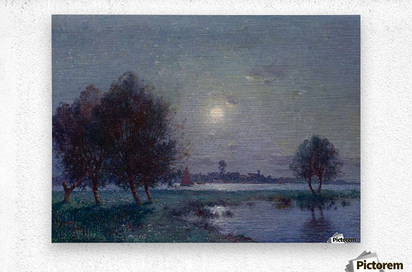 The Bank of Loire under Clear Moon  Metal print