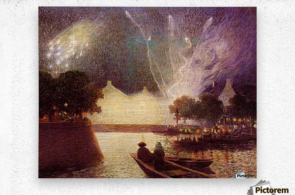 Clear Moon above the Baks of the Loire  Metal print