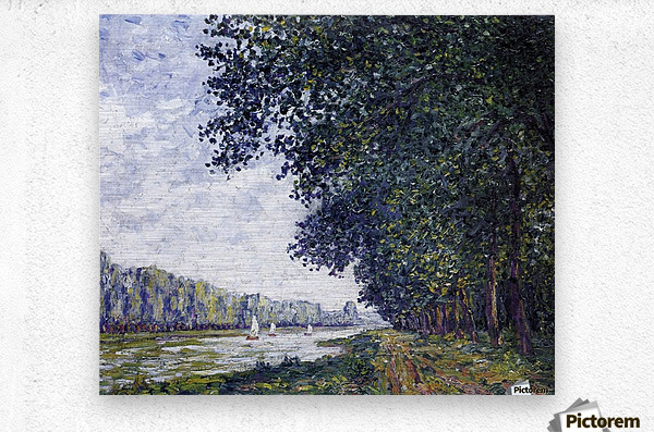 Canal of Moret, Winter Effect  Metal print