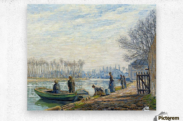 Fishermen at Moret-sur-Loing  Metal print