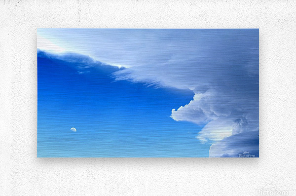 partly cloudy moon  Metal print