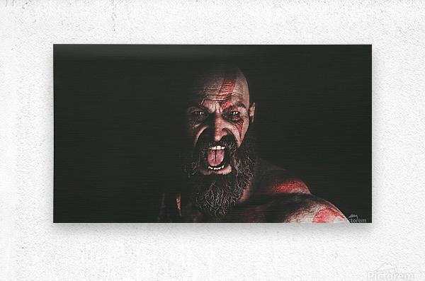 Hidden Beneath | God of War  Metal print