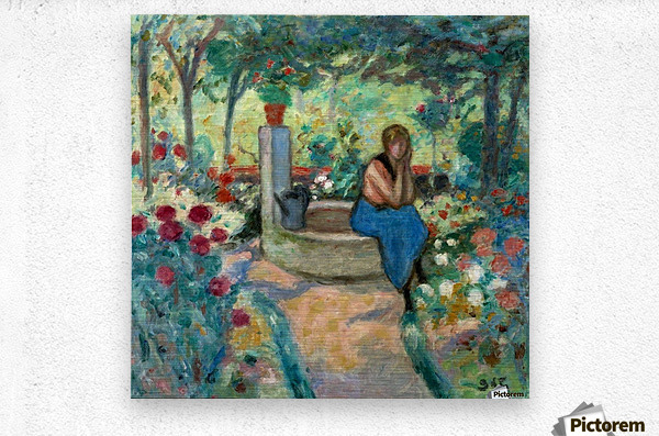Young Girl near the Well  Metal print