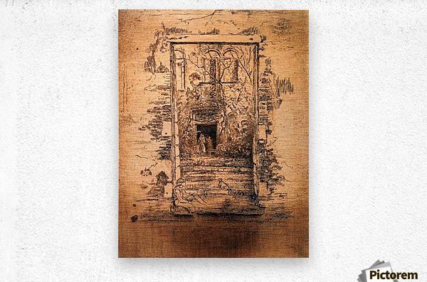 Garden by Whistler  Metal print